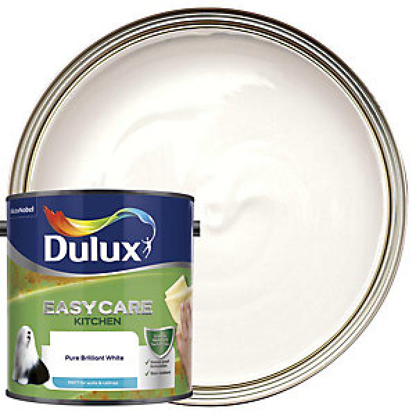 Dulux Easycare Kitchen Matt Emulsion Paint - Pure Brilliant White 2.5L