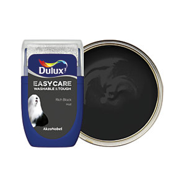 Dulux Easycare Washable & Tough Paint Tester Pot - Rich Black 30ml