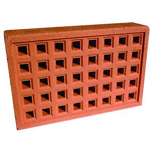 Wickes Square Hole Clay Airbrick - 215mm x 140mm