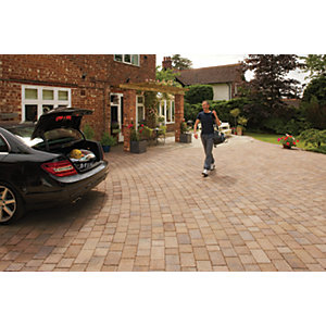 Marshalls Drivesett Tegula Textured Block Paving - Autumn 160 x 160 x 50mm Pack of 426