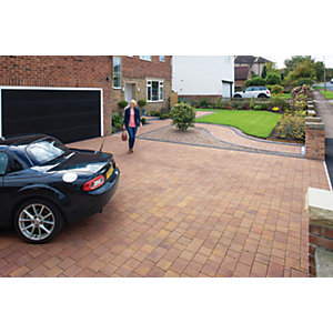 Marshalls Drivesett Savanna Textured Autumn 120 x 160 x 50mm Block Paving - Pack of 540