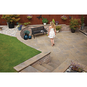 Marshalls Heritage Riven Calder Brown 450 x 450 x 38mm Paving Slab - Pack of 44