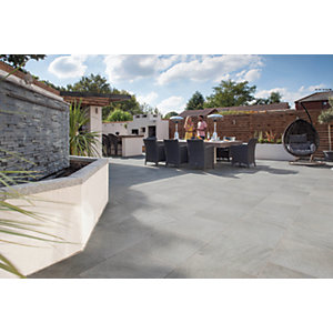 Marshalls Symphony Smooth Grey Mixed Size Paving Patio Pack - 16.16 m2