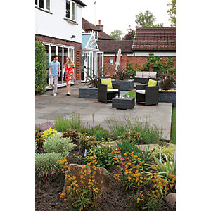 Marshalls Indian Sandstone Riven Grey Mixed Size Paving Patio Pack - 15.23 m2