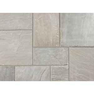 Marshalls Indian Sandstone Textured Grey Multi 560 x 275 x 15-25mm Paving Slab - Pack of 128