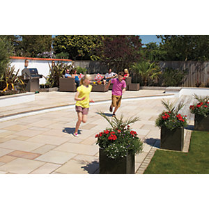 Marshalls Fairstone Sawn Versuro Smooth Golden Sand 1000 x 750 x 30mm Paving Slab - Pack of 14