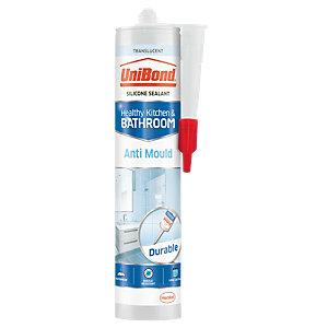 UniBond Anti-Mould Silicone Sealant - Translucent 300ml