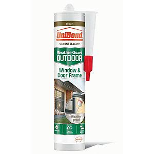 UniBond Outdoor Window & Door Frame Sealant - Brown 300ml