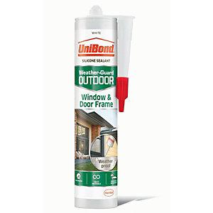 UniBond Outdoor Window & Door Frame Sealant - White 300ml