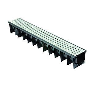 Clark-Drain Channel & Galvanised Driveway Drainage Grate - 1m