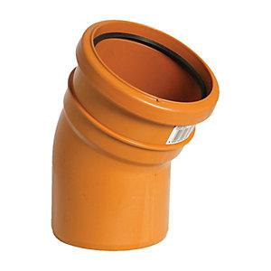 FloPlast D164 Underground Drainage 30 Deg Bend Socket - Terracotta 110mm