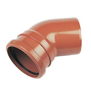 FloPlast D163 Underground Drainage 45 Deg Bend Socket - Terracotta 110mm