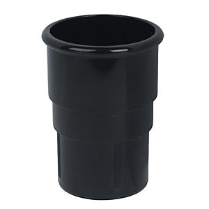 FloPlast RSM1B MiinFlo Round Downpipe Socket - Black 50mm