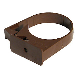 FloPlast RCM1BR MiniFlo 50mm Round Downpipe Pipe Clip - Brown Pack of 2