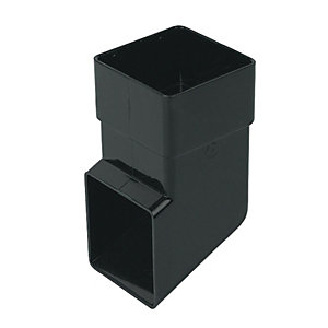 FloPlast RBS3B Square Line Downpipe Shoe - Black 65mm