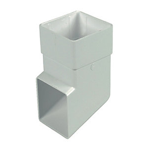 FloPlast RBS3W Square Line Downpipe Shoe - White 65mm