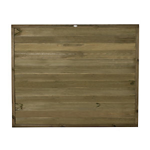 Forest Garden Pressure Treated Tongue & Groove Horizontal Fence Panel - 6 x 5ft Pack of 3