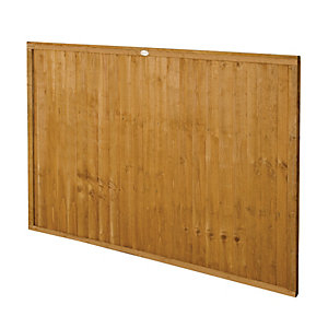 Forest Garden Pressure Treated Closeboard Fence Panel - 6 x 4ft Pack of 4