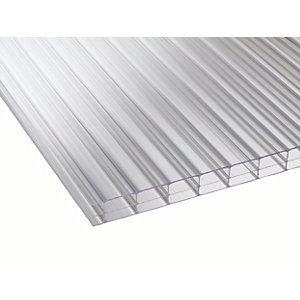 16mm Clear Multiwall Polycarbonate Sheet - 2500 x 1800mm