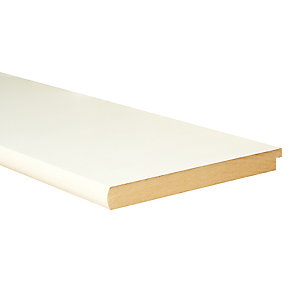 Wickes Bullnose Primed MDF Window Board - 22mm x 219mm x 2.7m