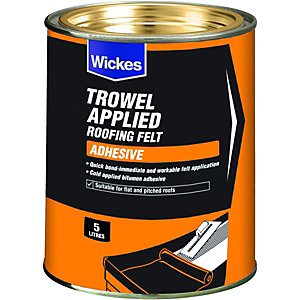 Wickes Trowel On Roofing Felt Adhesive 5L