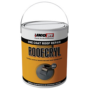 Ikopro Roofcryl One Coat Acrylic Based Roof Repair - Grey 5kg