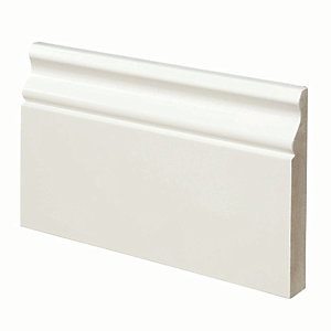 Wickes Ogee Fully Finished MDF Skirting - 18mm x 119mm x 3.6m Pack of 2