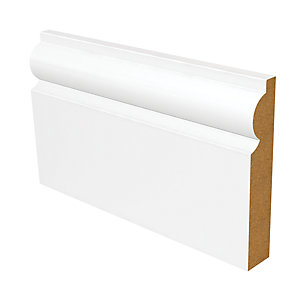 Wickes Torus Fully Finished MDF Skirting - 18mm x 119mm x 2.4m