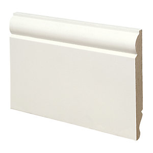 Wickes Dual Purpose Torus/Ogee Primed MDF Skirting - 18mm x 144mm x 3.6m Pack of 2