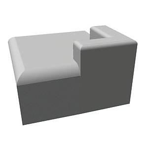 Res-Tec Fibreglass Roofing Trim - Corner Piece