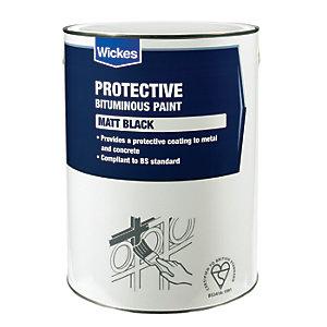 Wickes Metal & Concrete Bitumen Paint - Black 5L