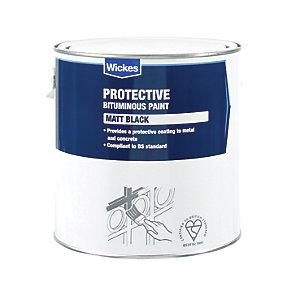 Wickes Metal & Concrete Bitumen Paint - Black 2.5L