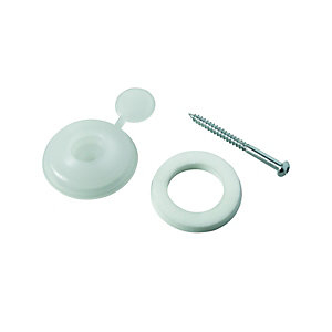 Wickes Clear Polycarbonate Fixing Buttons for 10mm Polycarbonate Sheets - Pack of 10