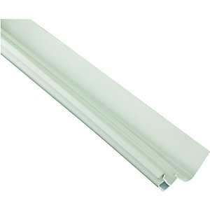 Wickes White Universal Edge Flashing for Polycarbonate Sheets - 3m