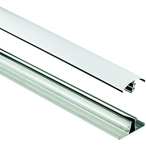 Wickes White Universal Glazing Bar for Polycarbonate Sheets - 3m