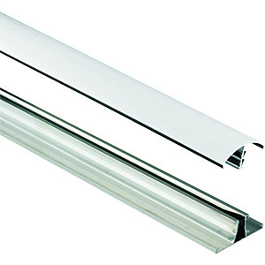 Wickes White Universal Glazing Bar for Polycarbonate Sheets - 4m