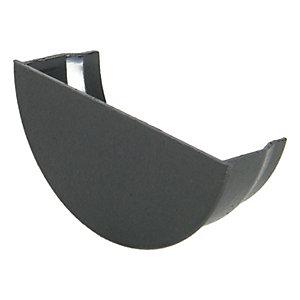 FloPlast RE2CI Cast Iron Style Half Round Gutter Internal Stopend - Black