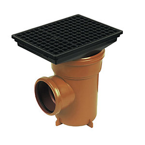 FloPlast D520 Underground Bottle Gully Rectangular Lid - Terracotta 110mm