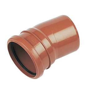 FloPlast D167 Drain 15 Deg Bend Single Socket - Terracotta 110mm