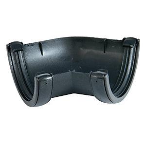 FloPlast RA2CI Cast Iron Style Half Round Gutter 135 Deg Bend - Black