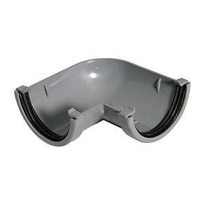 FloPlast RAM1G Miniflo Gutter 90 Deg Bend - Grey