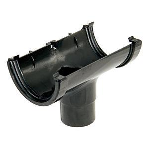 FloPlast ROM1B Miniflo Gutter Running Outlet - Black