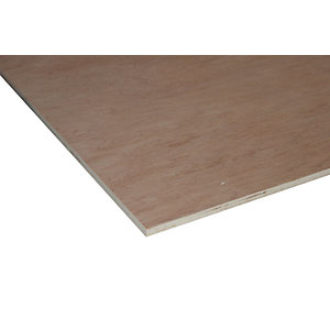 Wickes Non Structural Hardwood Plywood - 12mm x 1220mm x 2440mm