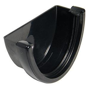 FloPlast REH1B High Capacity High Gutter External Stopend - Black