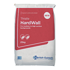 British Gypsum Thistle Hardwall Plaster - 25kg