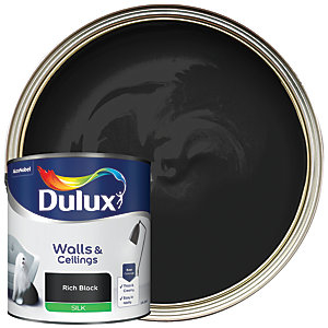 Dulux Silk Emulsion Paint - Rich Black 2.5L