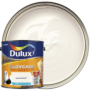 Dulux Easycare Washable & Tough Matt Emulsion Paint - Jasmine White 2.5L