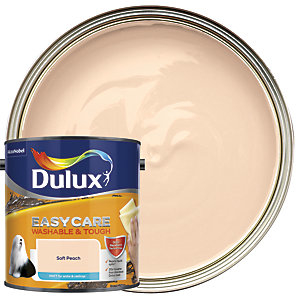 Dulux Easycare Washable & Tough Matt Emulsion Paint - Soft Peach 2.5L