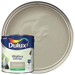 Dulux Silk Emulsion Paint - Overtly Olive 2.5L