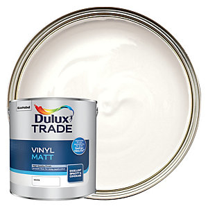 Dulux Trade Vinyl Matt Emulsion Paint - White 2.5L